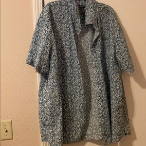 Mens Floral Short Sleeve Button up